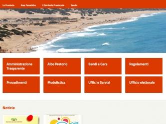 Homepage del Sito Istituzionale della Provincia del Sud Sardegna